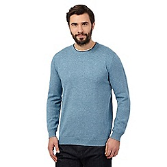 J by Jasper Conran - Big and tall light blue crew neck jumper