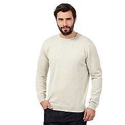 J by Jasper Conran - Big and tall cream crew neck jumper