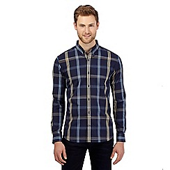 J by Jasper Conran - Navy checked shirt