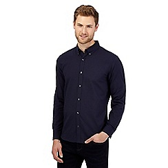 J by Jasper Conran - Navy seer sucker striped shirt