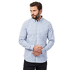 J by Jasper Conran - Big and tall blue gingham check print shirt