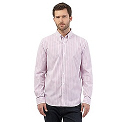 J by Jasper Conran - Big and tall pink checked shirt