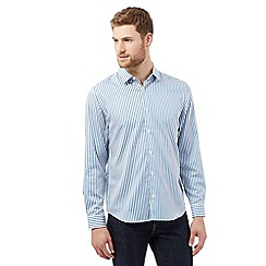 J by Jasper Conran - Big and tall blue stripped shirt
