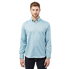 J by Jasper Conran - Big and tall turquoise oxford shirt