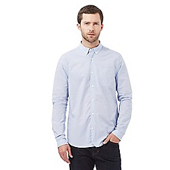J by Jasper Conran - Big and tall light blue horizontal striped shirt