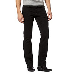 J by Jasper Conran - Big and tall designer black straight leg jeans