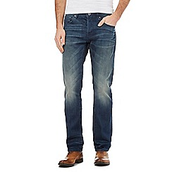J by Jasper Conran - Mid blue vintage wash straight fit jeans