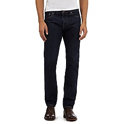 J by Jasper Conran - Big and tall dark blue slim fit jeans