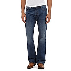 J by Jasper Conran - Big and tall mid blue bootcut jeans