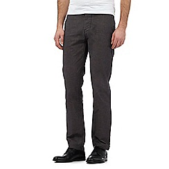 J by Jasper Conran - Big and tall grey pin dot chinos