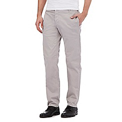 J by Jasper Conran - Big and tall light grey straight fit chinos