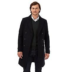 J by Jasper Conran - Black wool blend double breasted coat