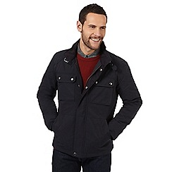 J by Jasper Conran - Big and tall navy lightweight biker style jacket