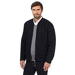 J by Jasper Conran - Navy wool baseball zip through jacket