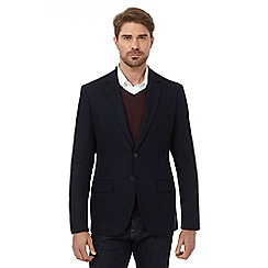J by Jasper Conran - Big and tall navy herringbone single breasted jacket