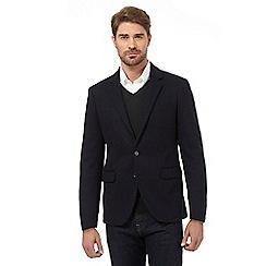 J by Jasper Conran - Big and tall navy jersey wool blend jacket