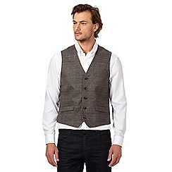 J by Jasper Conran - Big and tall brown checked waistcoat