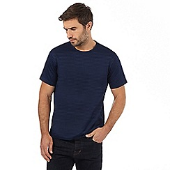 J by Jasper Conran - Big and tall navy mercerised textured striped t-shirt