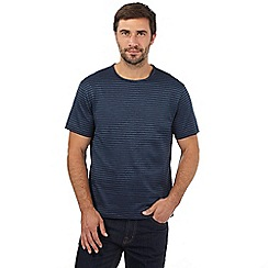 J by Jasper Conran - Big and tall blue fine striped jacquard t-shirt