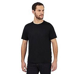 J by Jasper Conran - Black mercerised crew neck cotton t-shirt