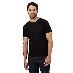 J by Jasper Conran - Black textured t-shirt