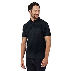 J by Jasper Conran - Big and tall navy and green stripe polo shirt