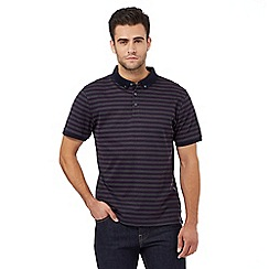 J by Jasper Conran - Purple striped print textured polo shirt