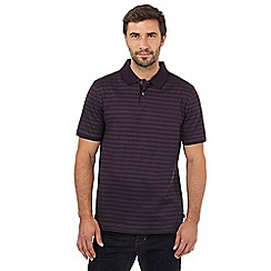 J by Jasper Conran - Purple mercerised striped print polo shirt