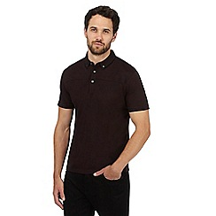 J by Jasper Conran - Dark red Mercerised polo shirt