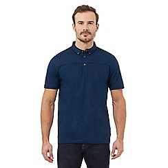 J by Jasper Conran - Big and tall blue short sleeve polo shirt
