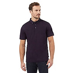 J by Jasper Conran - Big and tall purple polo shirt