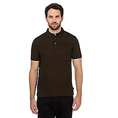 J by Jasper Conran - Brown Mercerised polo shirt