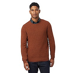 J by Jasper Conran - Dark orange lambswool rich crew neck jumper