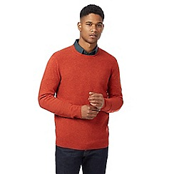 J by Jasper Conran - Bright orange lambswool rich crew neck jumper