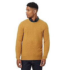 J by Jasper Conran - Big and tall dark yellow lambswool rich crew neck jumper