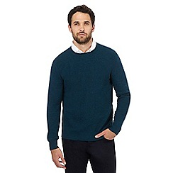 J by Jasper Conran - Dark green plain crew neck jumper