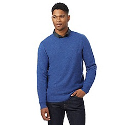 J by Jasper Conran - Blue lambswool rich crew neck jumper
