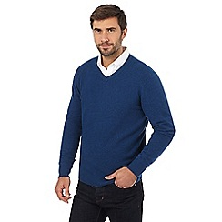 J by Jasper Conran - Navy lambswool rich jumper