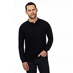 J by Jasper Conran - Navy Merino wool polo neck jumper