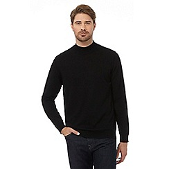 J by Jasper Conran - Black pure Merino wool turtle neck sweater