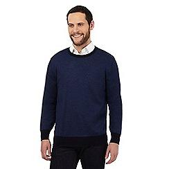 J by Jasper Conran - Blue pure Merino wool striped jumper