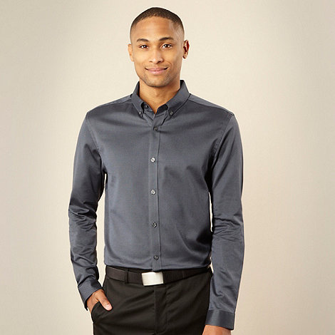 J by Jasper Conran - Designer navy oxford long sleeve shirt