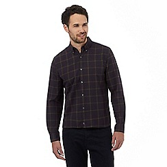 J by Jasper Conran - Navy windowpane checked shirt