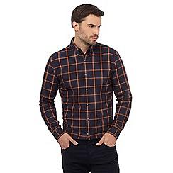 J by Jasper Conran - Navy checked print regular fit shirt