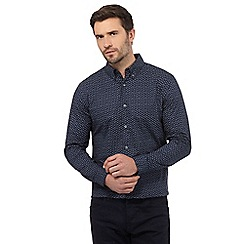 J by Jasper Conran - Big and tall navy paisley print regular fit shirt