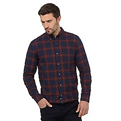 J by Jasper Conran - Navy and red checked print regular fit shirt