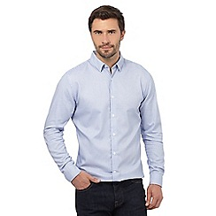 J by Jasper Conran - Big and tall bright blue dobby regular fit shirt