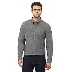J by Jasper Conran - Grey long sleeve houndstooth shirt