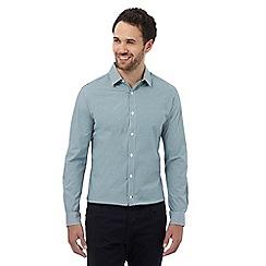 J by Jasper Conran - Green gingham stretch fit shirt