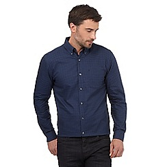 J by Jasper Conran - Blue gingham checked regular fit Oxford shirt